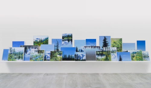 Picture Lake, installation view at The Sunday Painter, 2017.