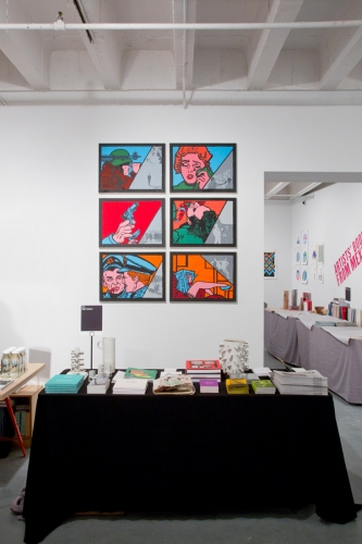 Installation view, Los Angeles Art Book Fair, 2016