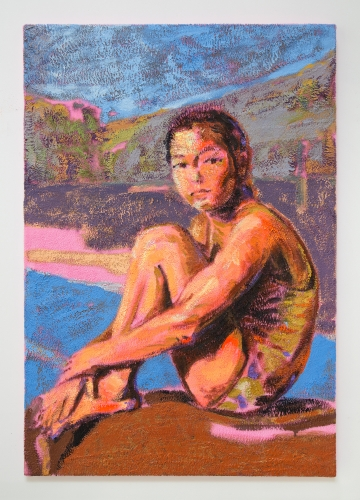 """Claire Tabouret, """"The Swimmer,"""" 2019."""