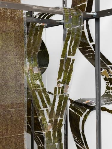 "Detail, ""Tessera,"" 2017. Image courtesy of Magenta Plains."
