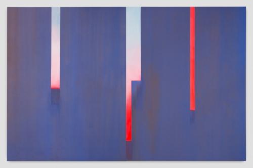 """In Absentia (Smalt Blue - Violet - Luminous Red - Sky Blue),"" 2016"
