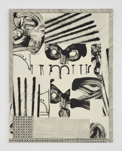 "David Korty, ""Paper Frames #1"", 2015, ink and silkscreen on panel"