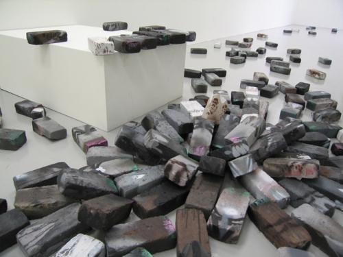 "Detail, ""Brick Pigeons,"" 2008"