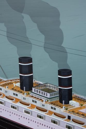 """""""Cruise Ship,"""" detail, 2020"""