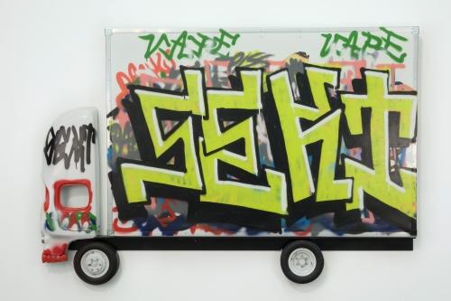 """Pentti Monkkonen, """"Box Truck Painting (Sekx),"""" 2014"""