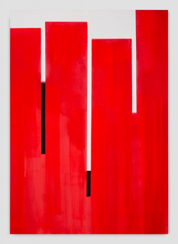 "Wanda Koop, ""In Absentia (Pure Red - White - Black),"" 2016"