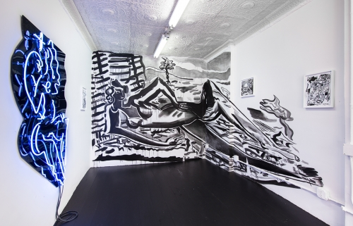 Installation view, YES, at Chapter NY, 2015