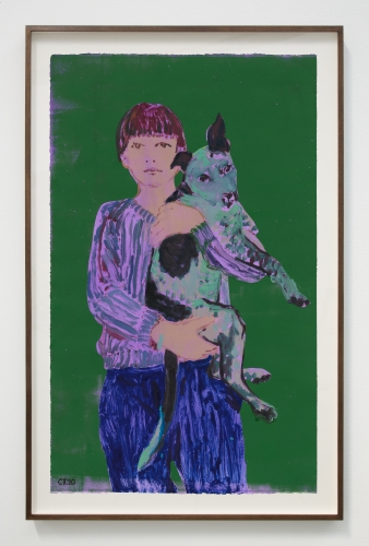 """Claire Tabouret, """"George and Me (purple),"""" 2020"""