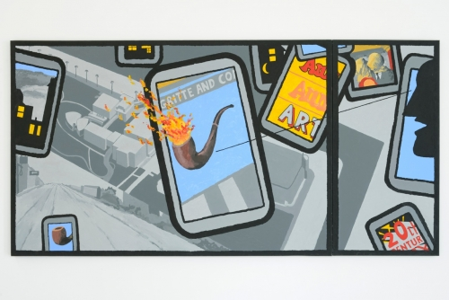 """""""No Ed... The Los Angeles County Museum is Not on Fire,"""" 2014"""
