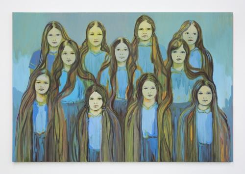 """Claire Tabouret, """"Blue Sentinels,"""" 2016"""