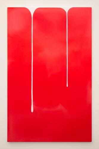 """""""Spill (Red-White),"""" 2018"""