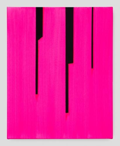 """In Absentia (Opera Pink - Dioxozine Purple Black),"" 2017"