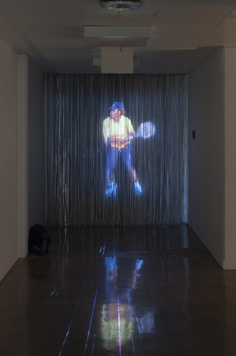 """Serena Hologram,"" video, 2016. Installation view in Sleep Never Rusts, MOCA Tucson, 2016"