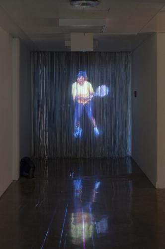 """Serena Hologram,"" video, 2016. Installation view in Sleep Never Rusts, MOCA Tucson, 2016"