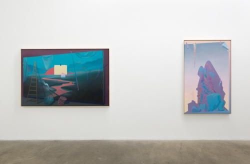 "Jake Kean Mayman, ""The Earth Dies Screaming,"" installation view, 2017"
