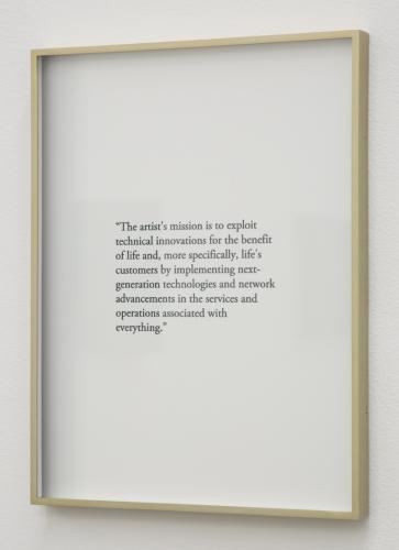 """Keith J. Varadi, """"Mission Statement,"""" 2015"""