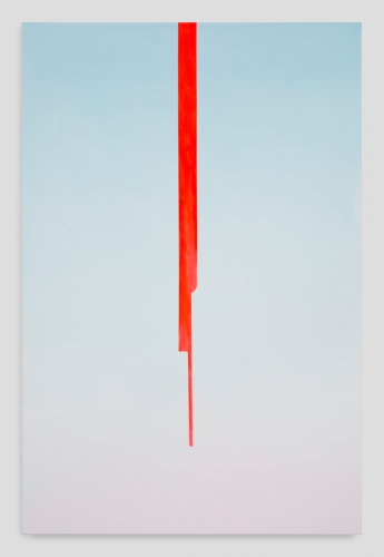 """""""In Absentia (Sky Blue - Sightline Red),"""" 2017"""
