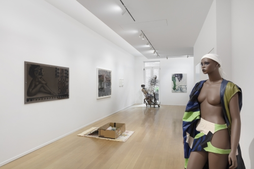 Pedestrian Profanities, installation view, curated by Eric N. Mack, Simon Lee Gallery, New York, NY, 2020.  Courtesy of Simon Lee Gallery. Photo: Pierre Le Hors