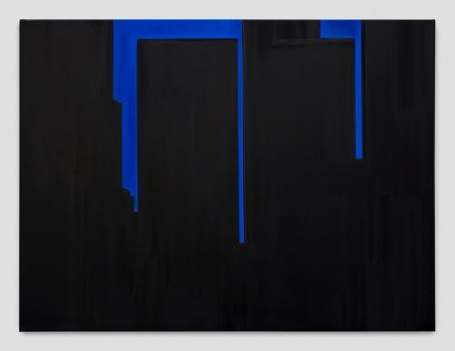 """""""In Absentia (Tar Black - Deep Blue),"""" 2017"""