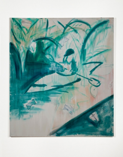 """Skecher Painting (Kayaker),"" 2012"