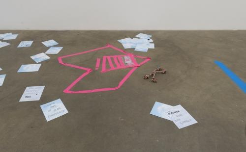 Elizabeth Sonnenberg, Hole in the Sky, installation view, 2018.