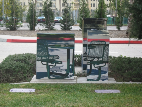 Wrapped utility boxes, Playa Vista, 2007