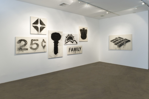 Installation view, Soft Targets, Royale Projects, 2014.