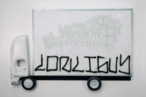 "Pentti Monkkonen, ""Box Truck Painting (lonliguy),"" 2014"