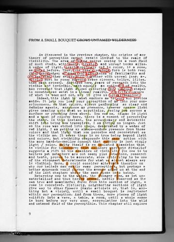"Natalie Czech, ""A small bouquet by Alix Rule,"" 2011"