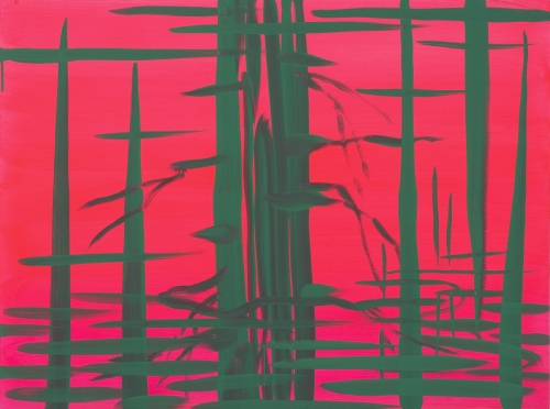 """Deep Bay (Brilliant pink - green reflection),"" 2007"