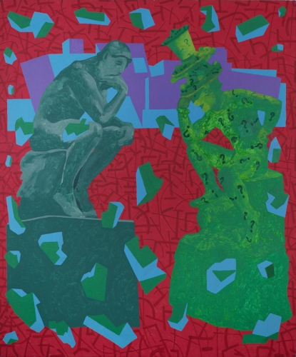 "Derek Boshier, ""The Los Angeles Art Collectors - Mr + Mrs Rodin-Riddler,"" 2013"