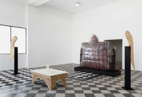 Bad News from the Colonies, installation view, Kristina Kite Gallery co-present with Night Gallery, 2020.