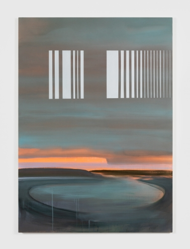 """Wanda Koop, """"Barcode Face,"""" 2021"""