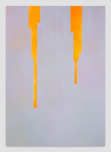 """In Absentia (Luminous Orange Yellow - Blue Grey),"" 2017"