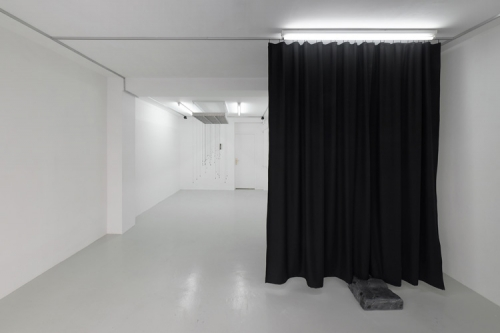 """Opera (in black),"" installation view at Antoine Levi Gallery, 2017"