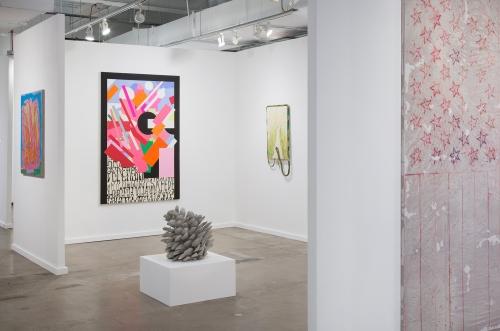 Installation view, Dallas Art Fair, 2018