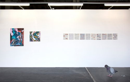 Installation view at Art-O-Rama, 2018.