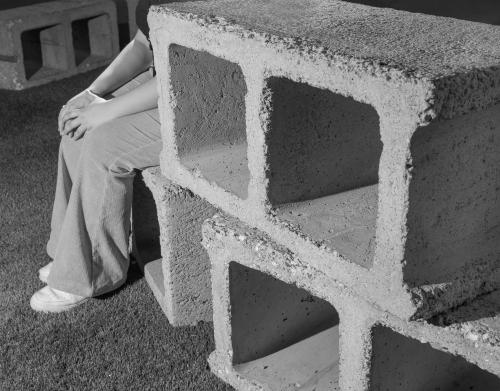 """Social Block,"" installation view at Flatiron Plaza, New York, NY, 2021. Photo: Elizabeth Bick"