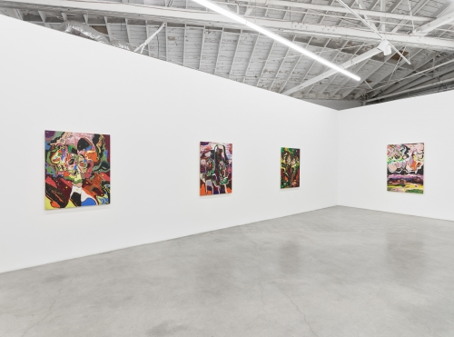 Root-Bound, installation view at Night Gallery, 2021.