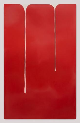"""Wanda Koop, """"Spill (Red-White),"""" 2018"""
