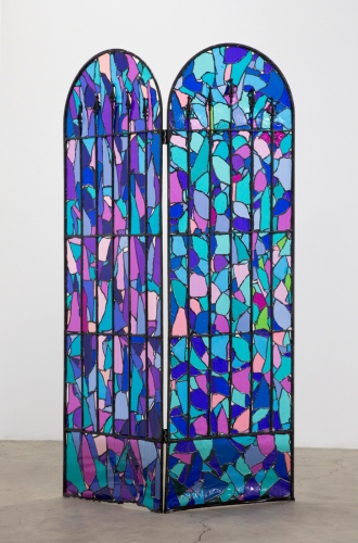 "Samara Golden, ""Missing Pieces from A Trap in Soft Division (Stained Glass #1),"" 2016"