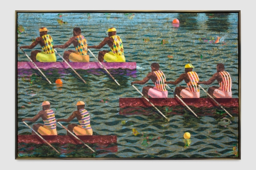 """Derek Fordjour, """"Regatta Study,"""" 2020"""
