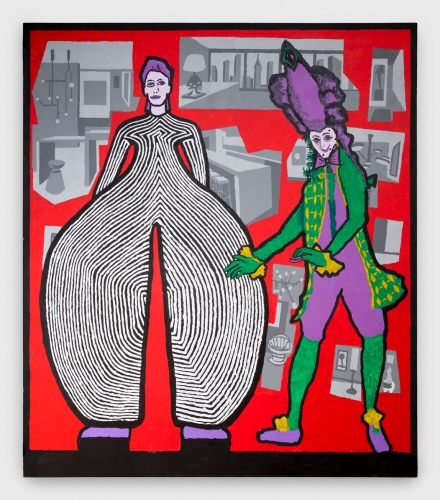 "Derek Boshier, ""David Bowie and Theresa Cornelys,"" 2016"
