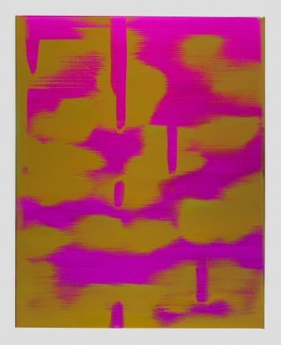 "Wanda Koop, ""Reflect (Magenta-Olive Gold),"" 2018"