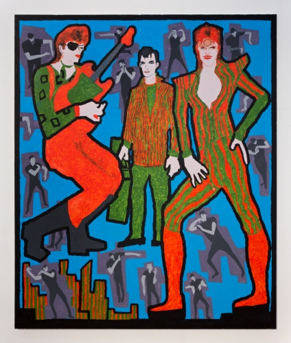 "Derek Boshier, ""David Bowie, Jack Kerouac, and David Bowie,"" 2016"
