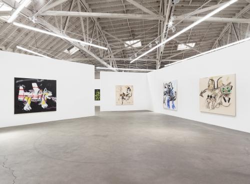 Vs, Installation view at Night Gallery, 2019.