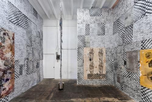 Installation view, Solid Single Burner, Michael Jon Gallery, 2014