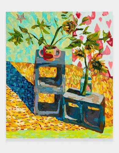 """""""Monkey Vase and Sunflower,"""" 2015."""