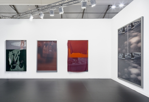 Installation view at Frieze London, 2016.