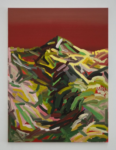 "Andy Woll, ""Mt. Wilson (green, green, red),"" 2015"